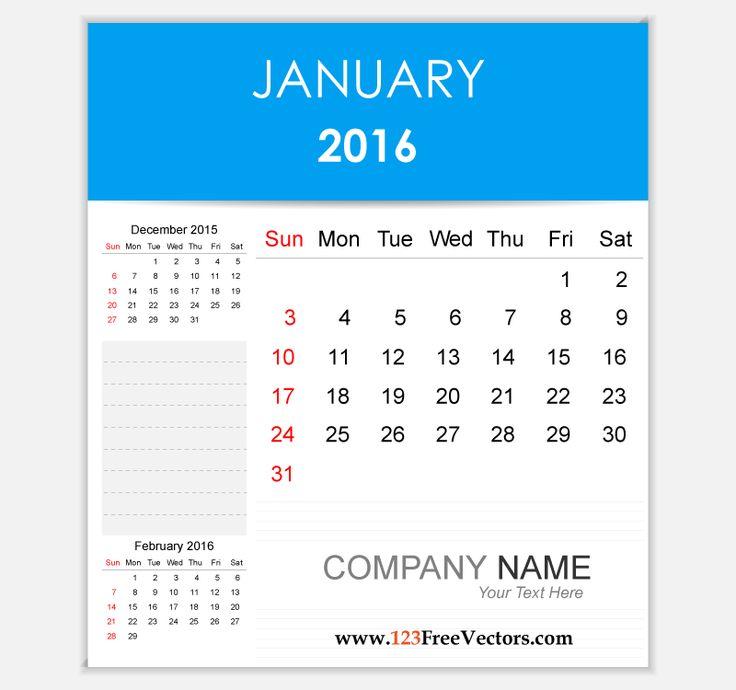 17 Best images about 2016 Calendar Template on Pinterest.