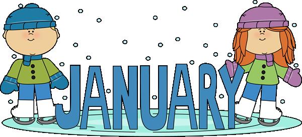 January Birthday Clip Art.