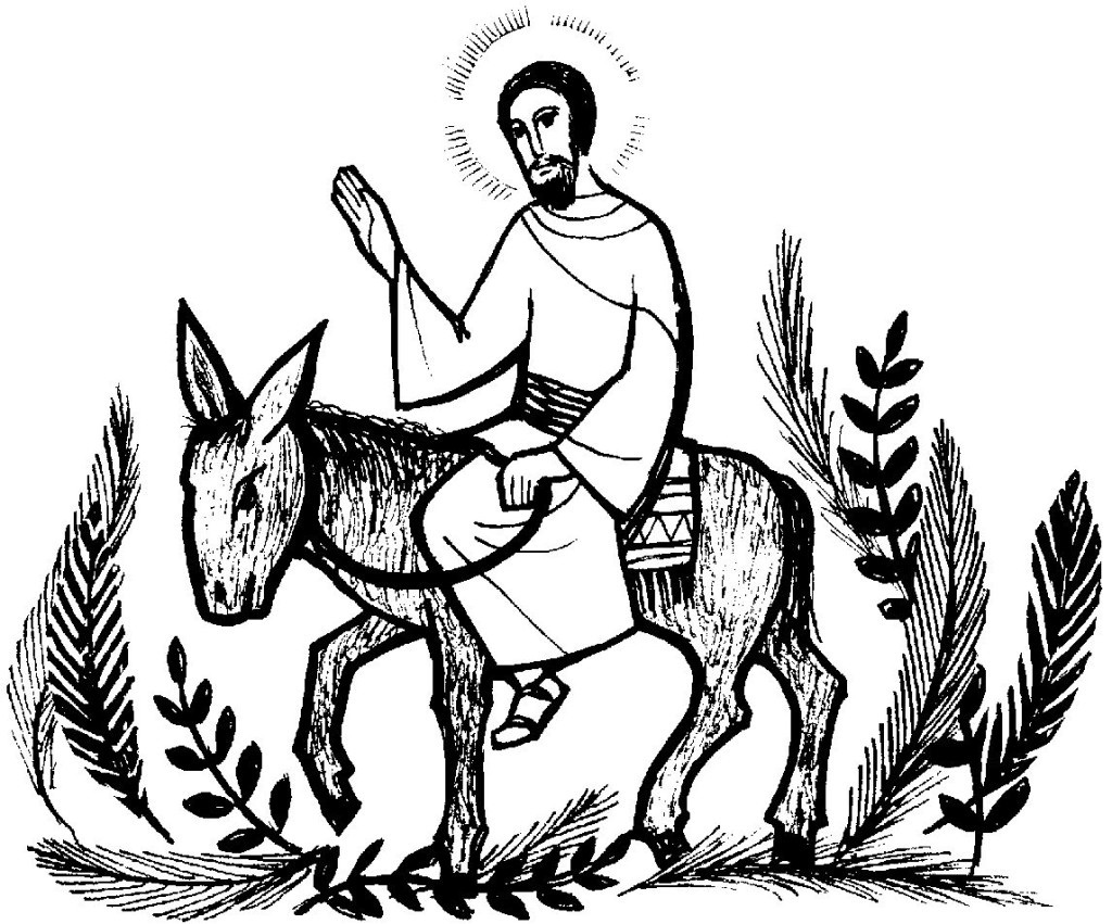 Jesus Palm Sunday Clip Art.