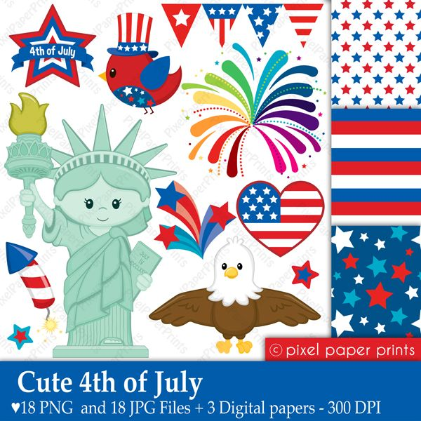 25+ best ideas about 4th Of July Clipart on Pinterest.
