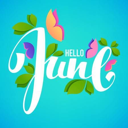 1,022 Hello June Stock Vector Illustration And Royalty Free Hello.