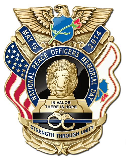 Police Officers Memorial Day 2016 Clipart.