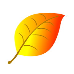 Free Yellow Leaf Clipart Image|Illustoon.