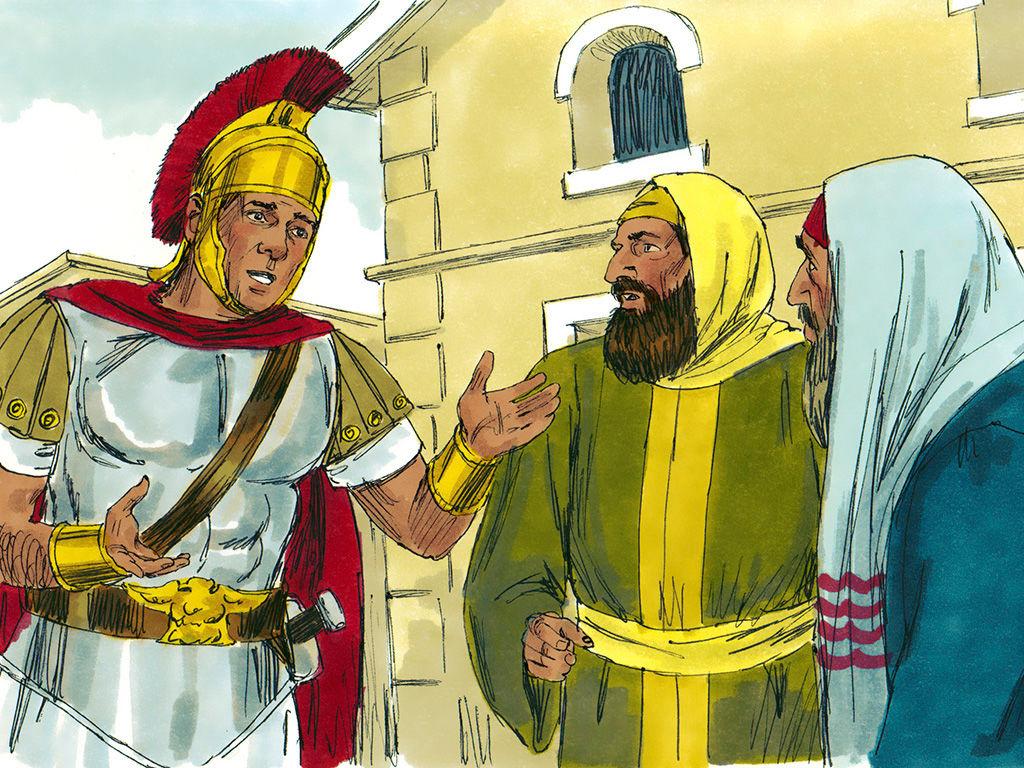 FreeBibleimages :: Jesus heals a Centurion\'s servant.
