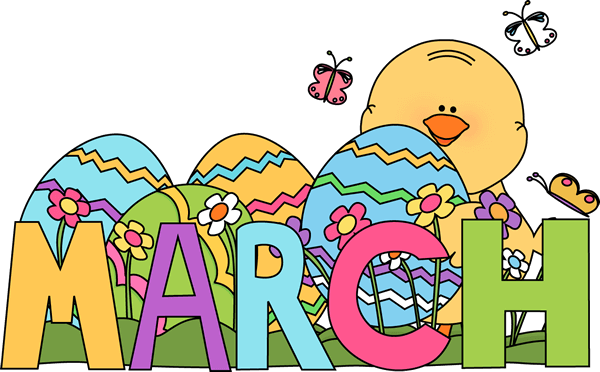 March Clipart 2019.