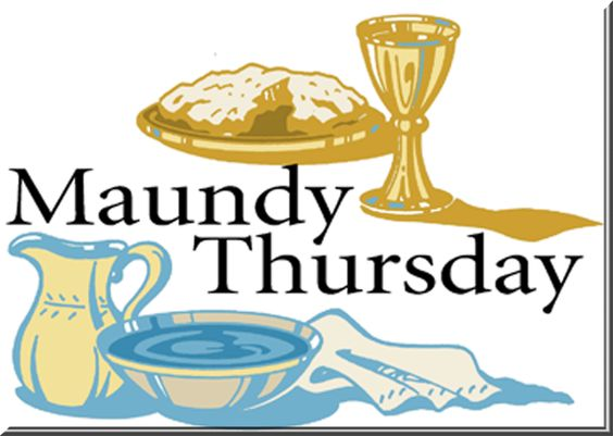 Maundy Thursday Wishes Clipart.