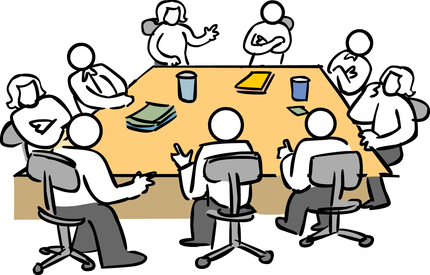 Meeting clipart management meeting, Meeting management.