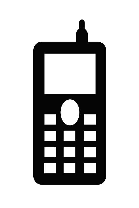 mobile telephone sign as clipart