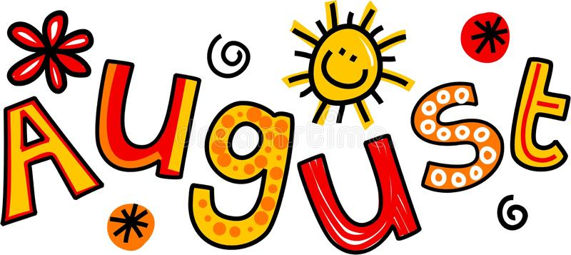 August Clipart Images.