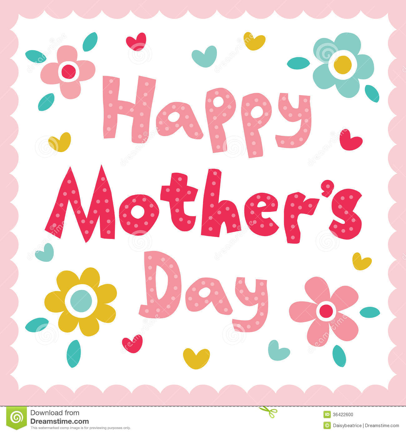 Happy Mothers Day Cards Clipart.