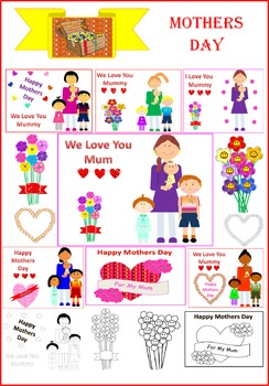 Lovely Mothers Day Clipart (Australian wording).