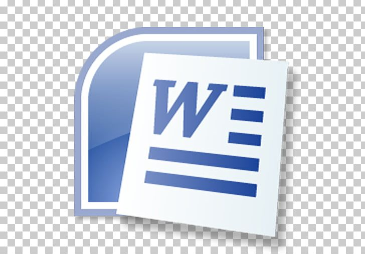 Microsoft Word Microsoft Office 2007 Document PNG, Clipart, Blue.