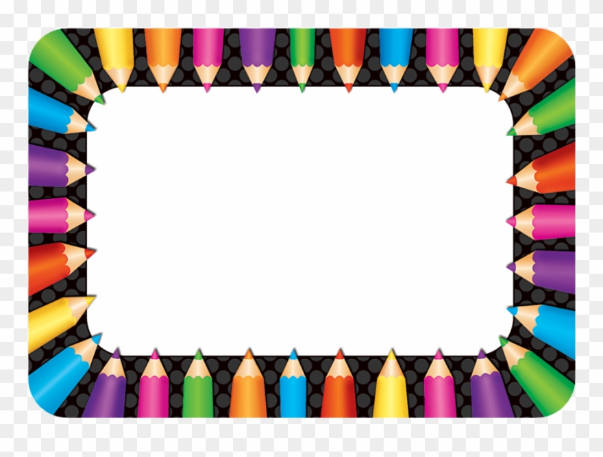 Tcr5513 Colored Pencils Name Tags/labels Image.