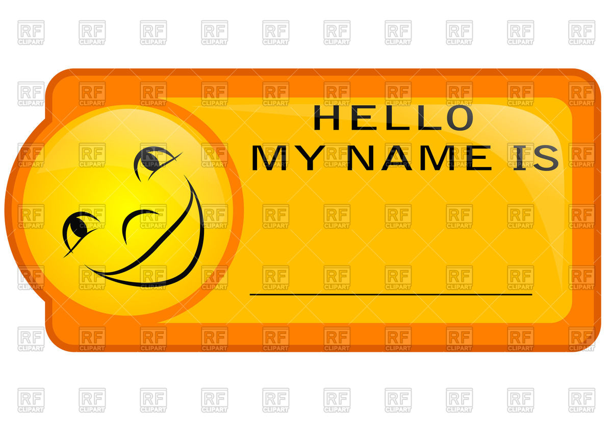 Clipart name tags 6 » Clipart Station.