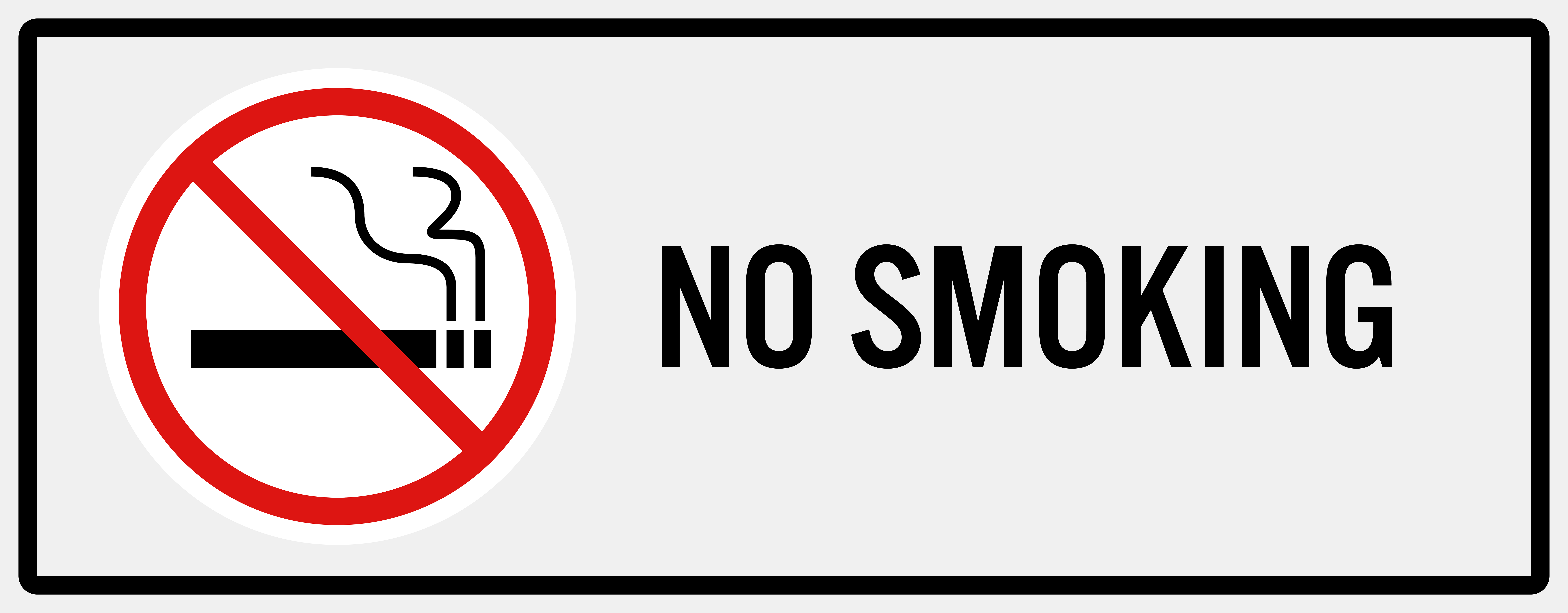 No Smoking Sign PNG Clip Art.