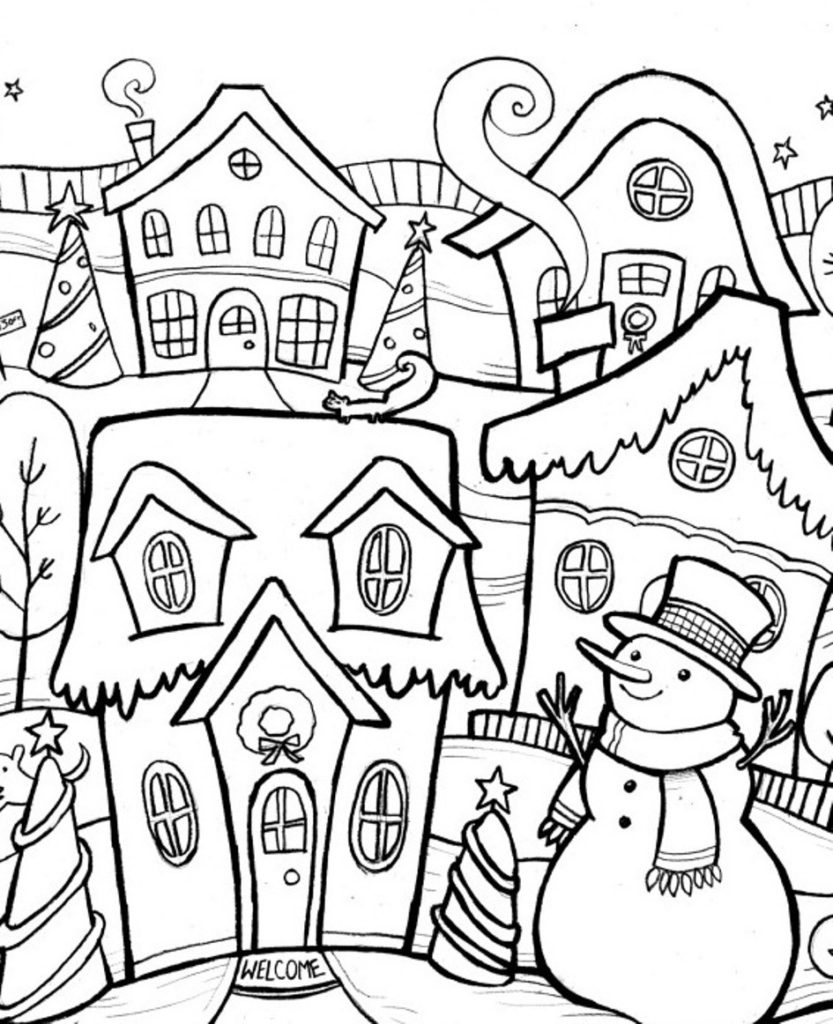 Coloring Book : Free Winter Coloring Pages Printable For.