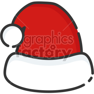 santa hat christmas icon . Royalty.