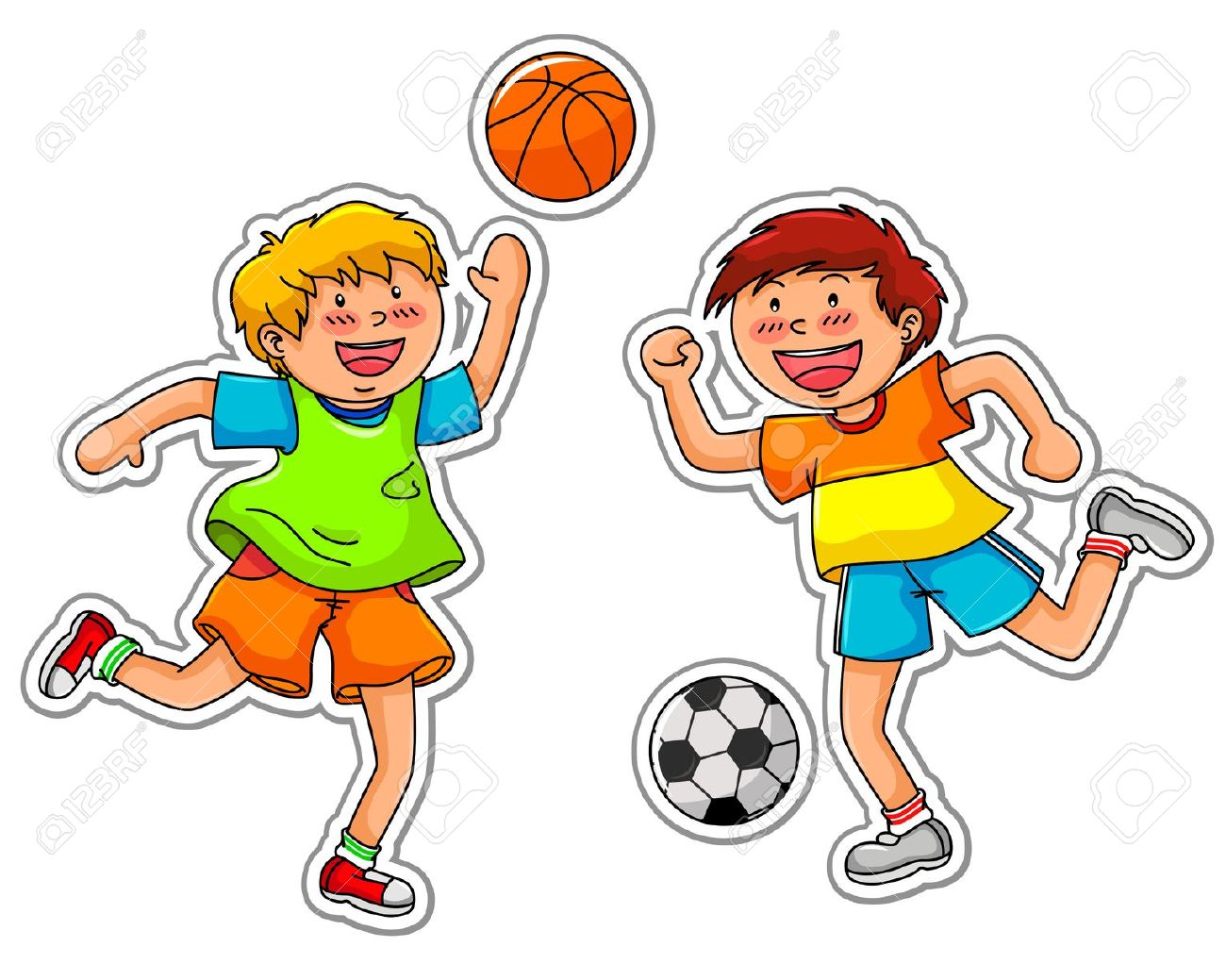 Physical education cartoon