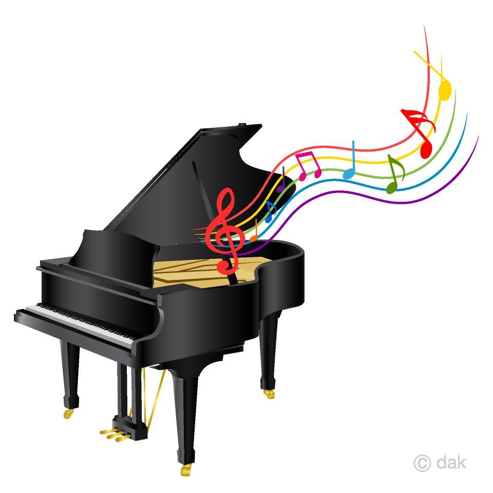 Free Piano and Music Sheet Clipart Image|Illustoon.