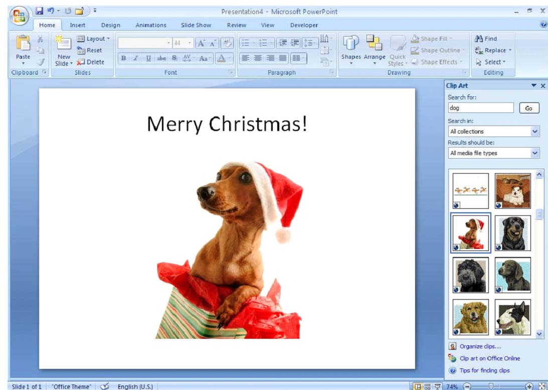 PowerPoint 2007: Working with Smart Art, Shapes and Objects.