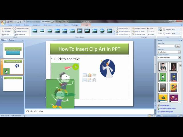 How To Insert Clip Art In PowerPoint Hindi ∼ MyElesson.org.