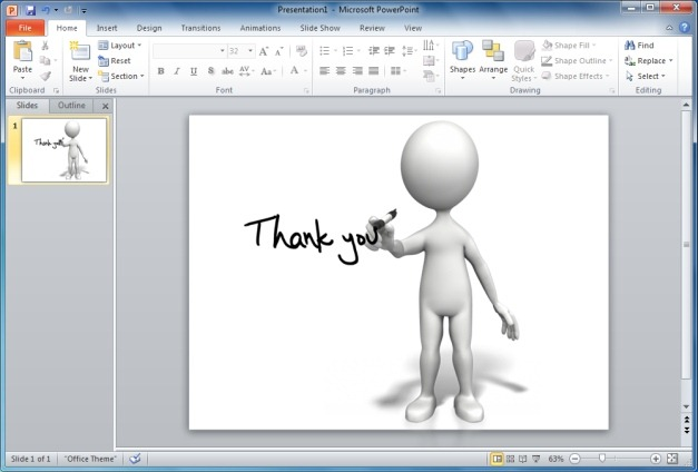 Finish Your PowerPoint Presentations With Animated Thank You.
