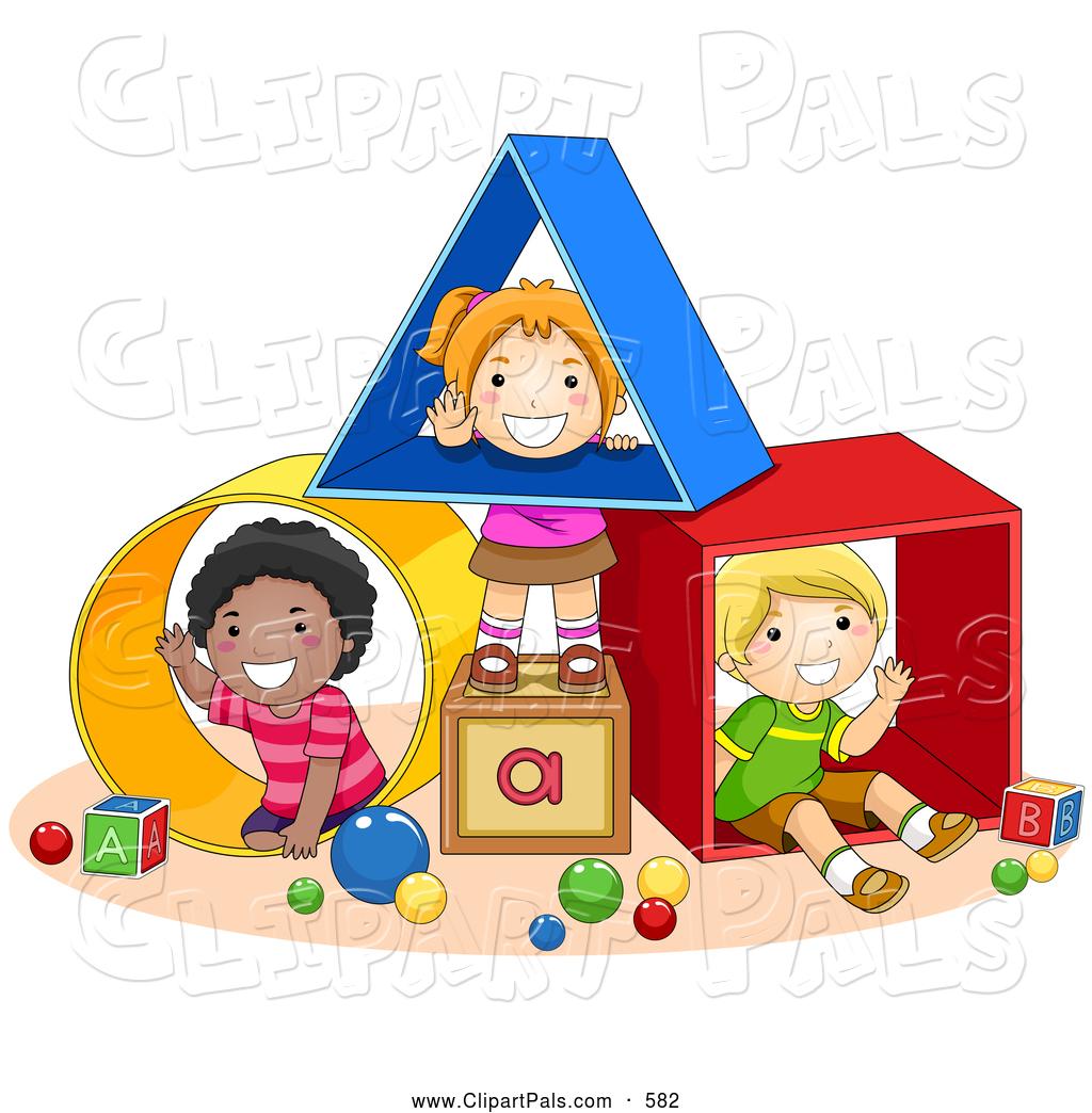 Play School Kids Clipart.