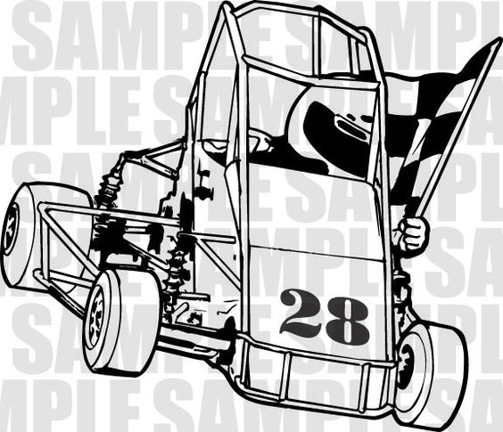 Clipart For Quarter Midget Race Car.