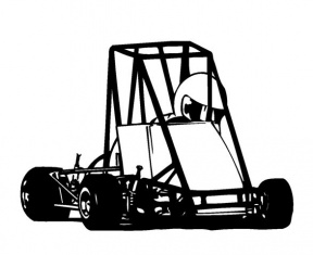 Midget Race Car Clip Art 01.