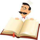 Open Reciepe Book Clipart.
