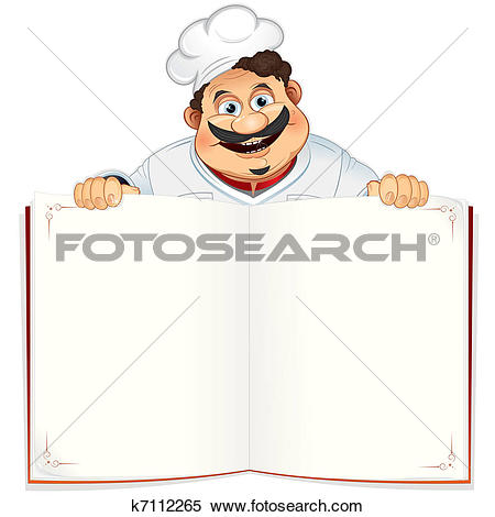 Clipart of Recipe Book k7112265.
