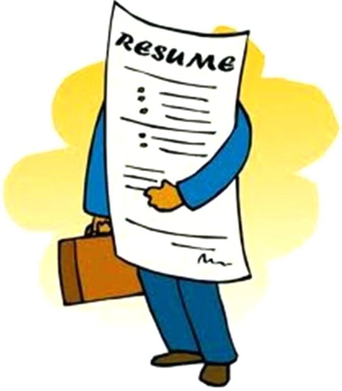 resume and cover letter clipart.