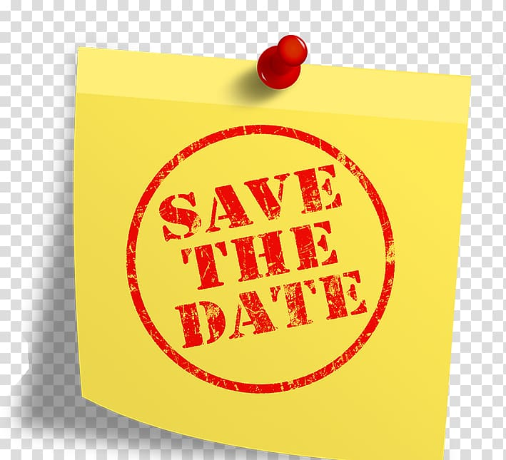 Save The Date transparent background PNG cliparts free.