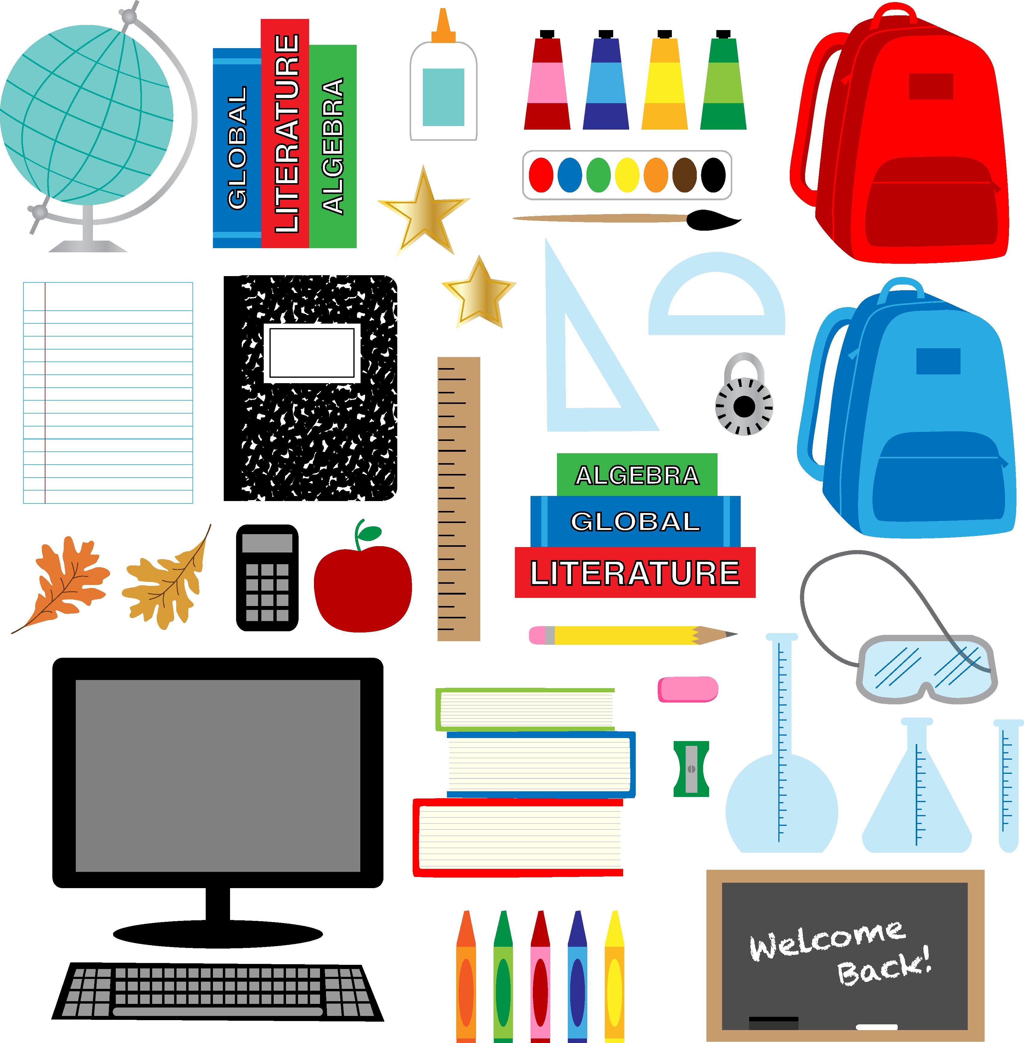 School Clipart Free Vector Art.
