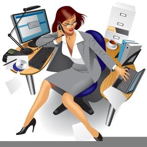 Free Clipart Busy Secretary.