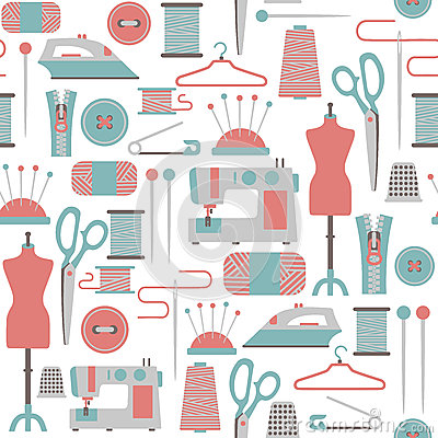 Sewing patterns clipart.