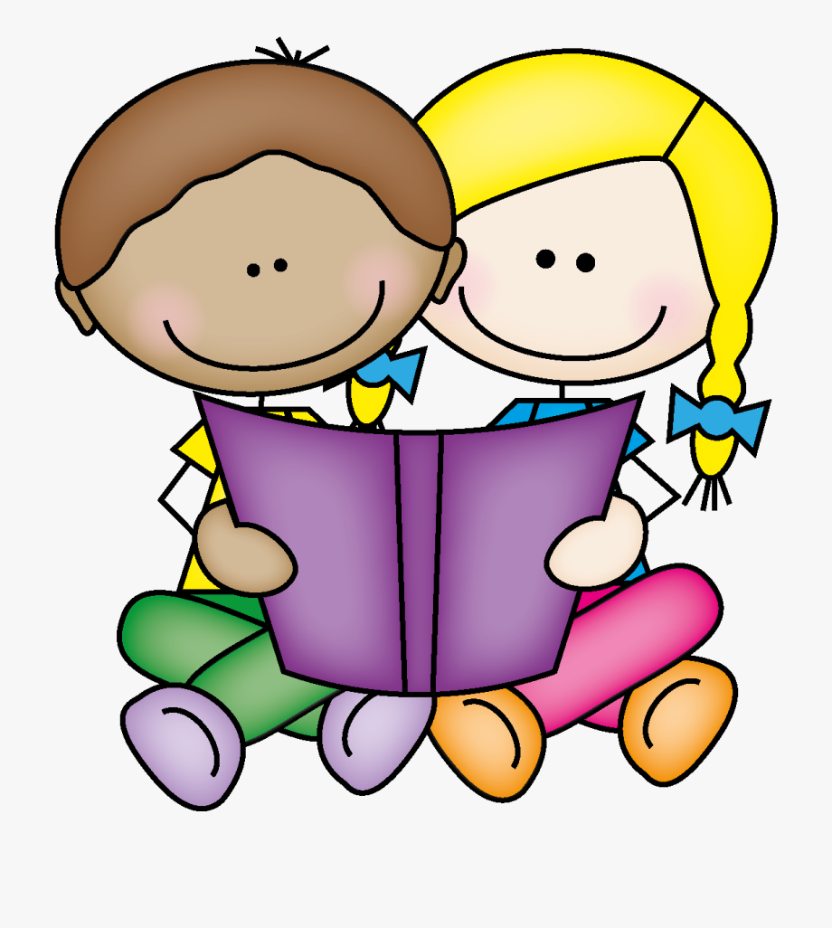 Picture Of Little Kids Reading Book Clipart Cliparts.