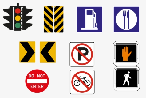 Free Road Signs Clip Art with No Background.
