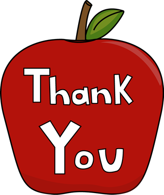 FREE Clipart for Teacher Appreciation Week.