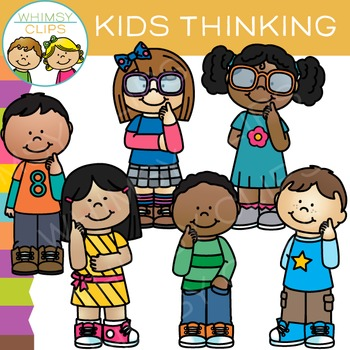 Thinking Kids Clip Art.