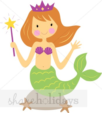 Mermaid Clipart For Kids.
