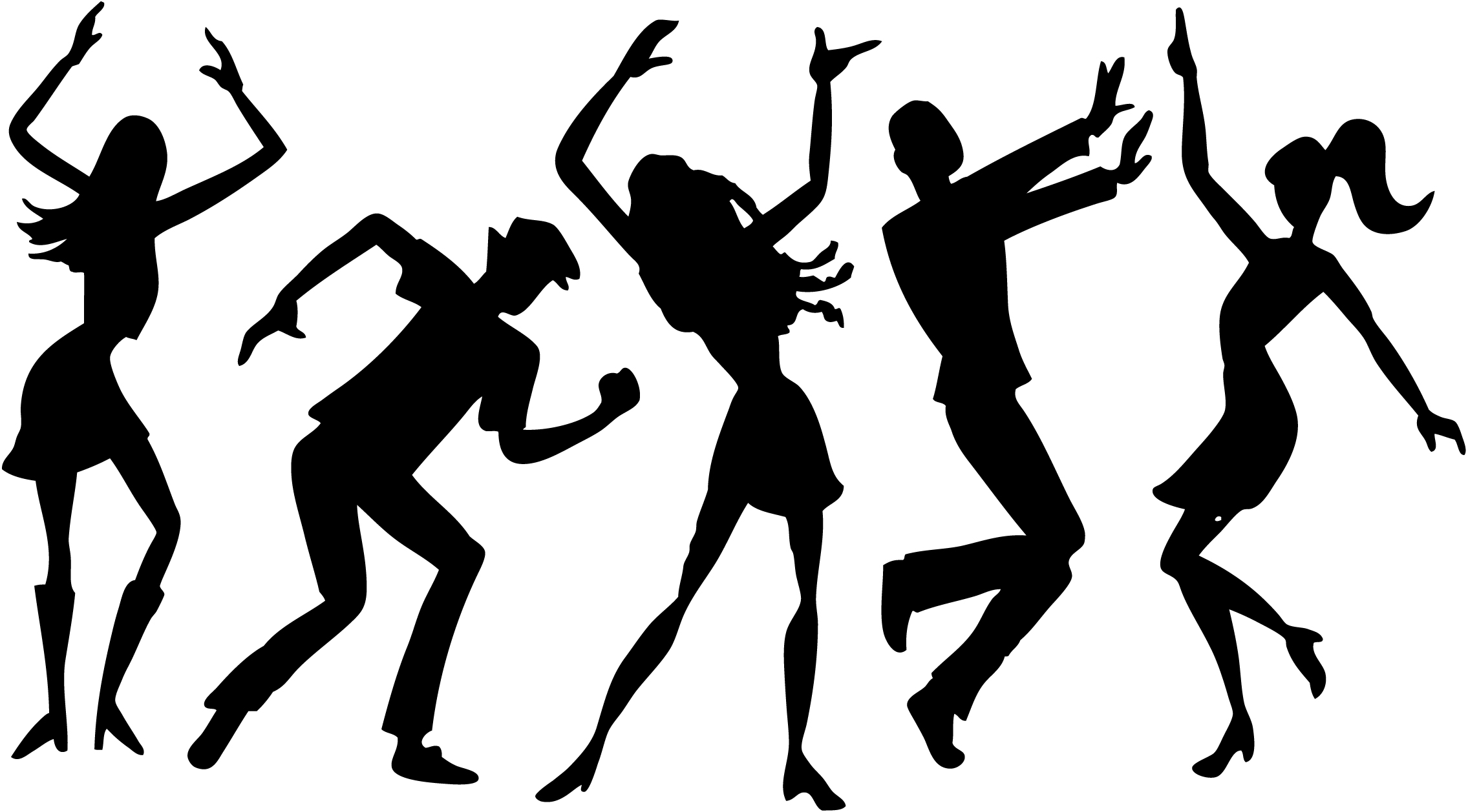 Teenagers Dancing Clipart.