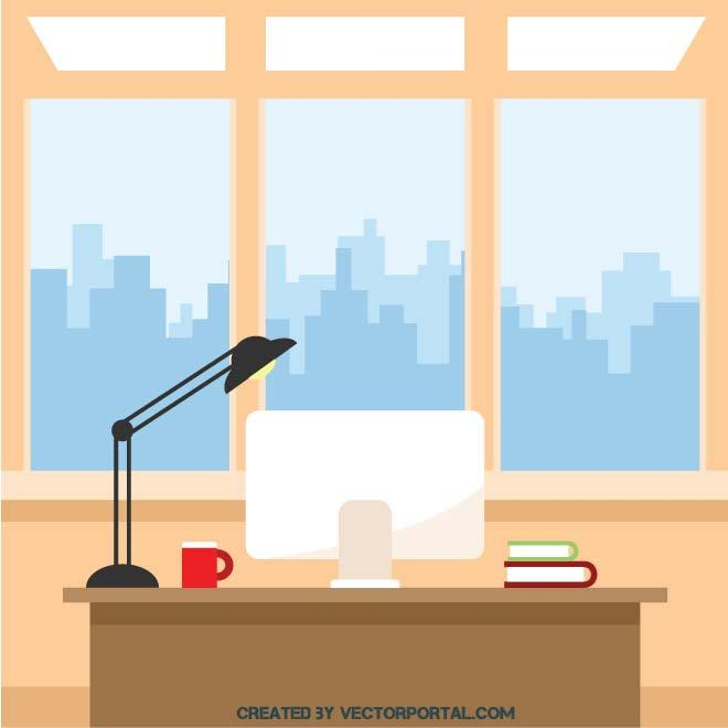 OFFICE INTERIOR CLIP ART.
