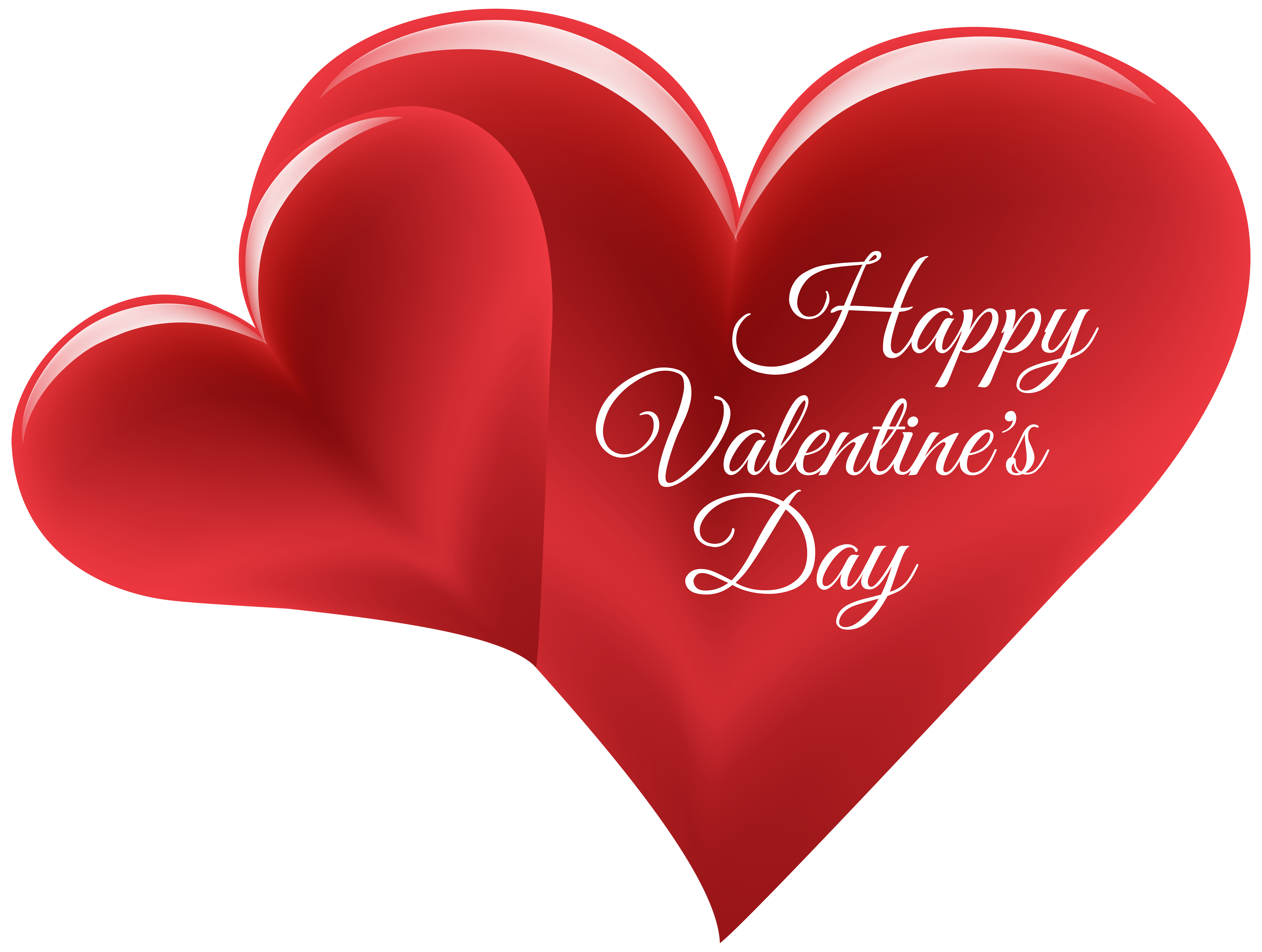 Happy Valentine\'s Day Hearts PNG Clip Art Image.