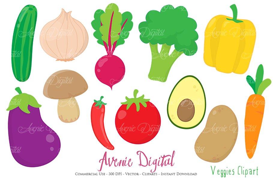 Vegetables Clipart + Vectors.