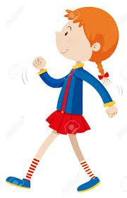 Image result for clipart girl walking.