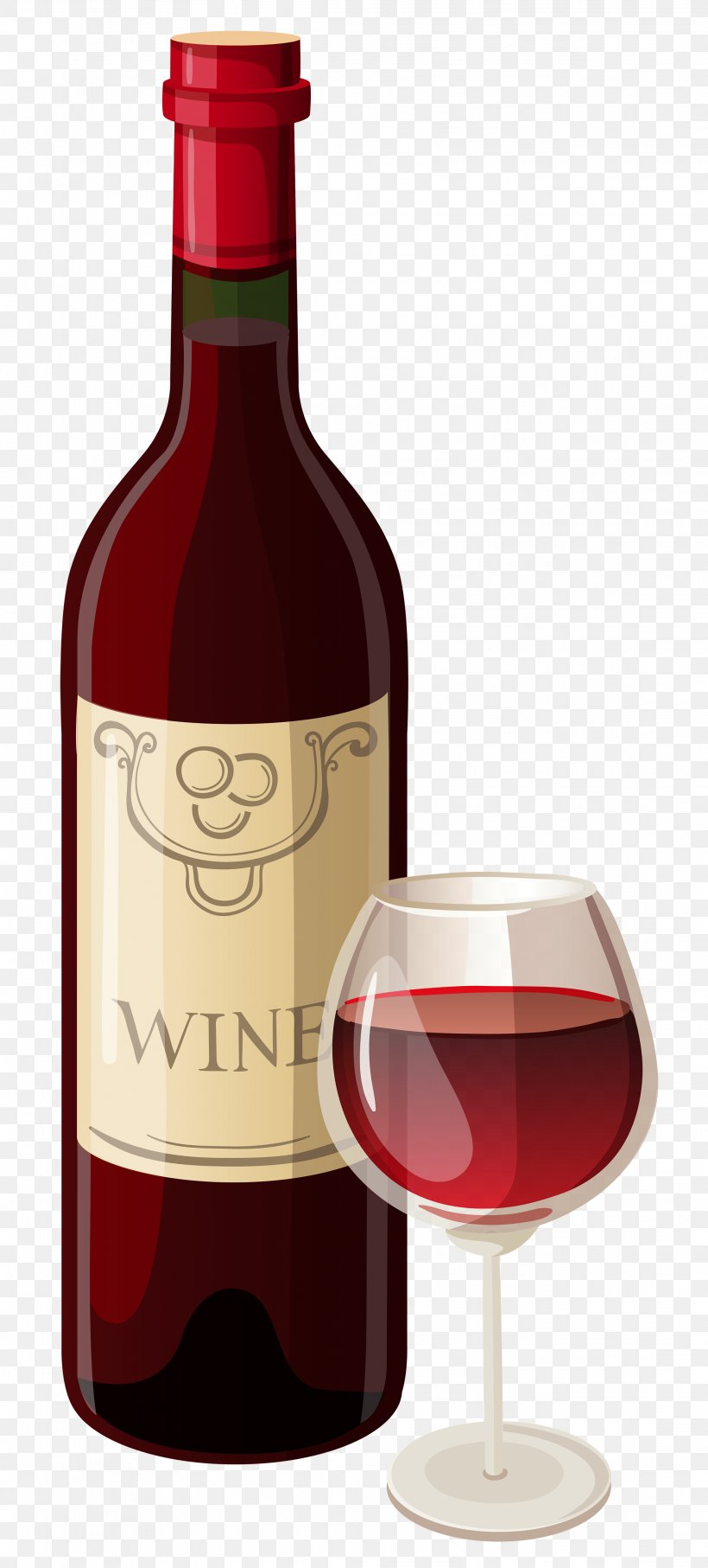 Red Wine Champagne Bottle Clip Art, PNG, 2237x4946px, Red.