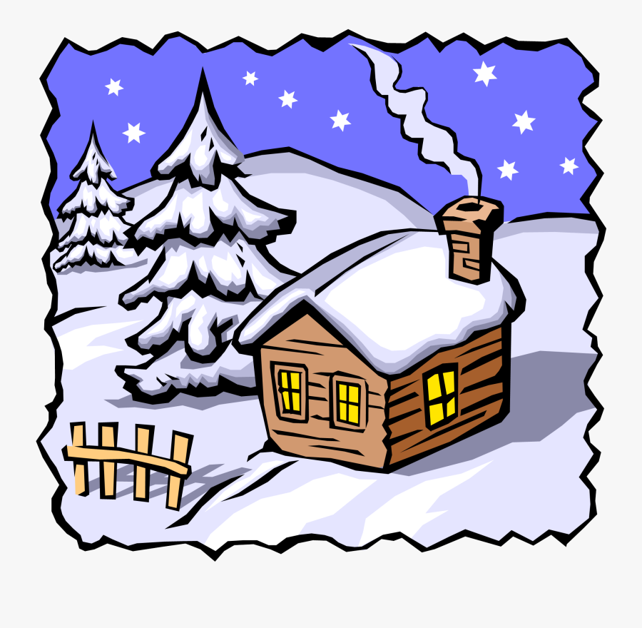 Cottage Clipart Winter.