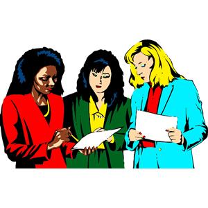 Women Teamwork clipart, cliparts of Women Teamwork free.