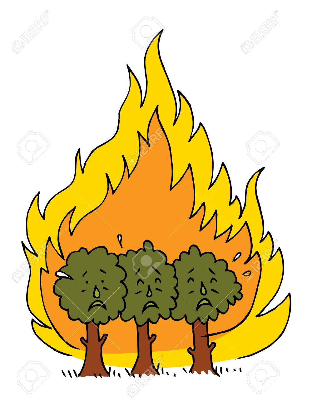 Forest fire clipart 5 » Clipart Station.